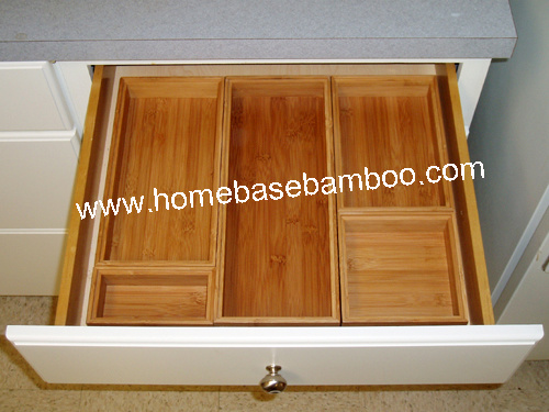Bamboo Drawer Storage Box Tray (stackable box) Hb5001