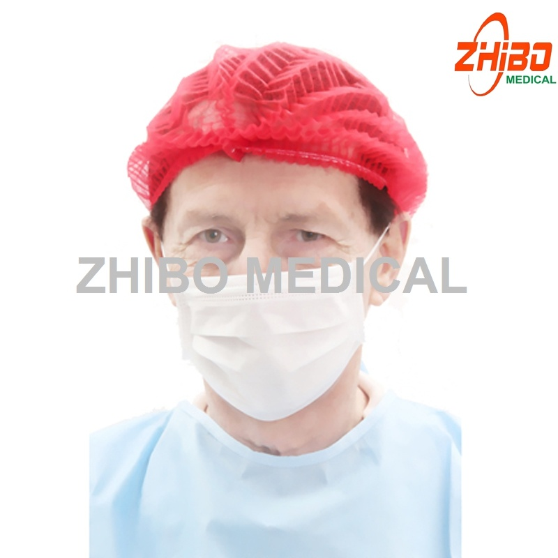 PP/Disposable Non-Woven Mop Cap/Clip Cap/Strip Cap/Pleated Cap