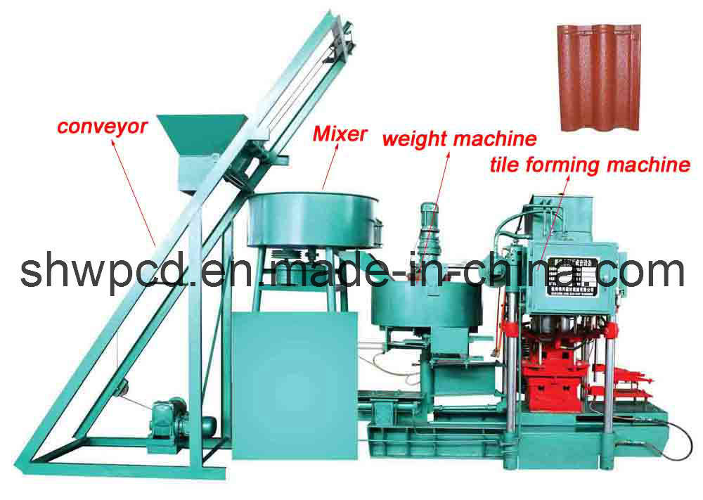 China 2012 Automatic Concrete Roof Tile Forming Machine