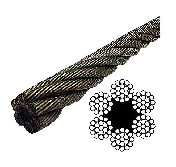6*19 (FC) Bright/Galvanized /Stainless Steel Wire Rope