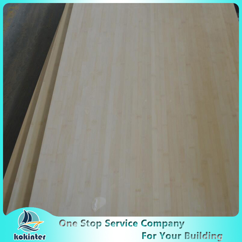 Multi-Ply 12mm Natural Edge Grain Bamboo Board for Furniture/Worktop/Floor/Skateboard