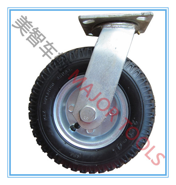 8 Inch Industrial Trolley Air Swivel Caster Rubber Wheel