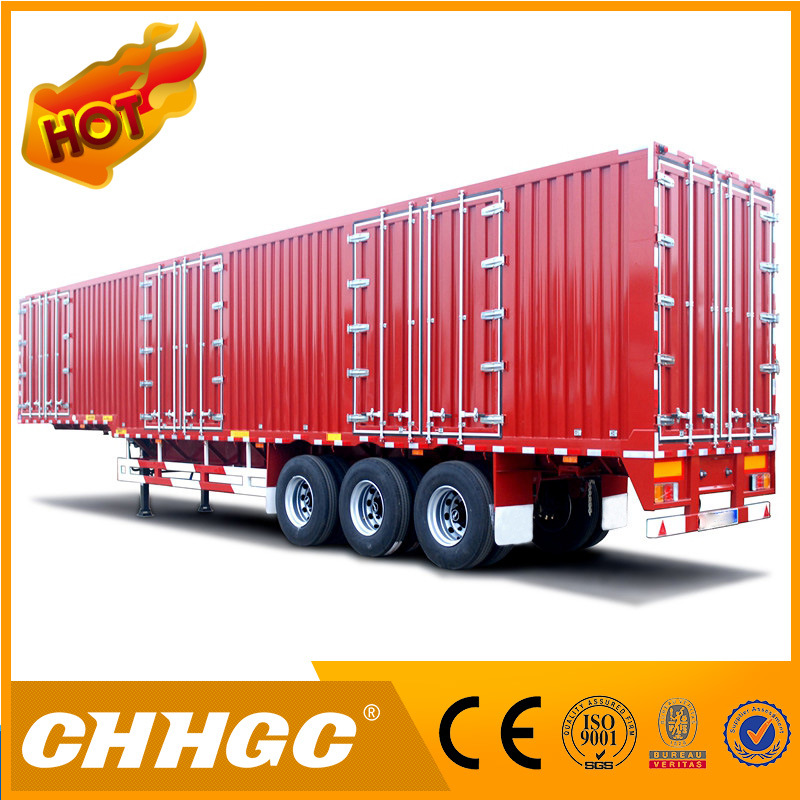 Chhgc 3 Axles Van Type Coal Carrying Semi Trailer