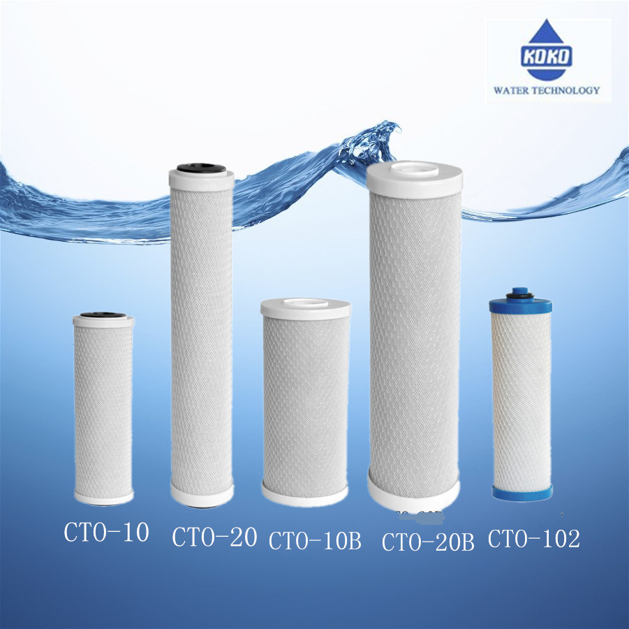 New 2017 Universal Water Filter Activated Carbon Cartridge, 10 Inch CTO Block Carbon Filter Water Purification System