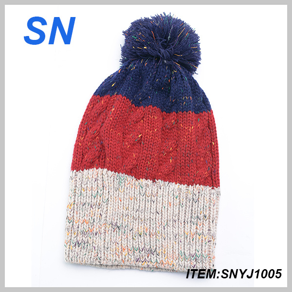 2013 New Fashion Knitted Beanie Hat with POM