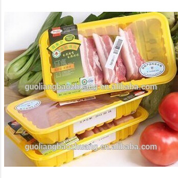 Guoliang Brand China Gold Supplier Disposable Plastic Square Food Container with Food Soaker Pads in Food Grade