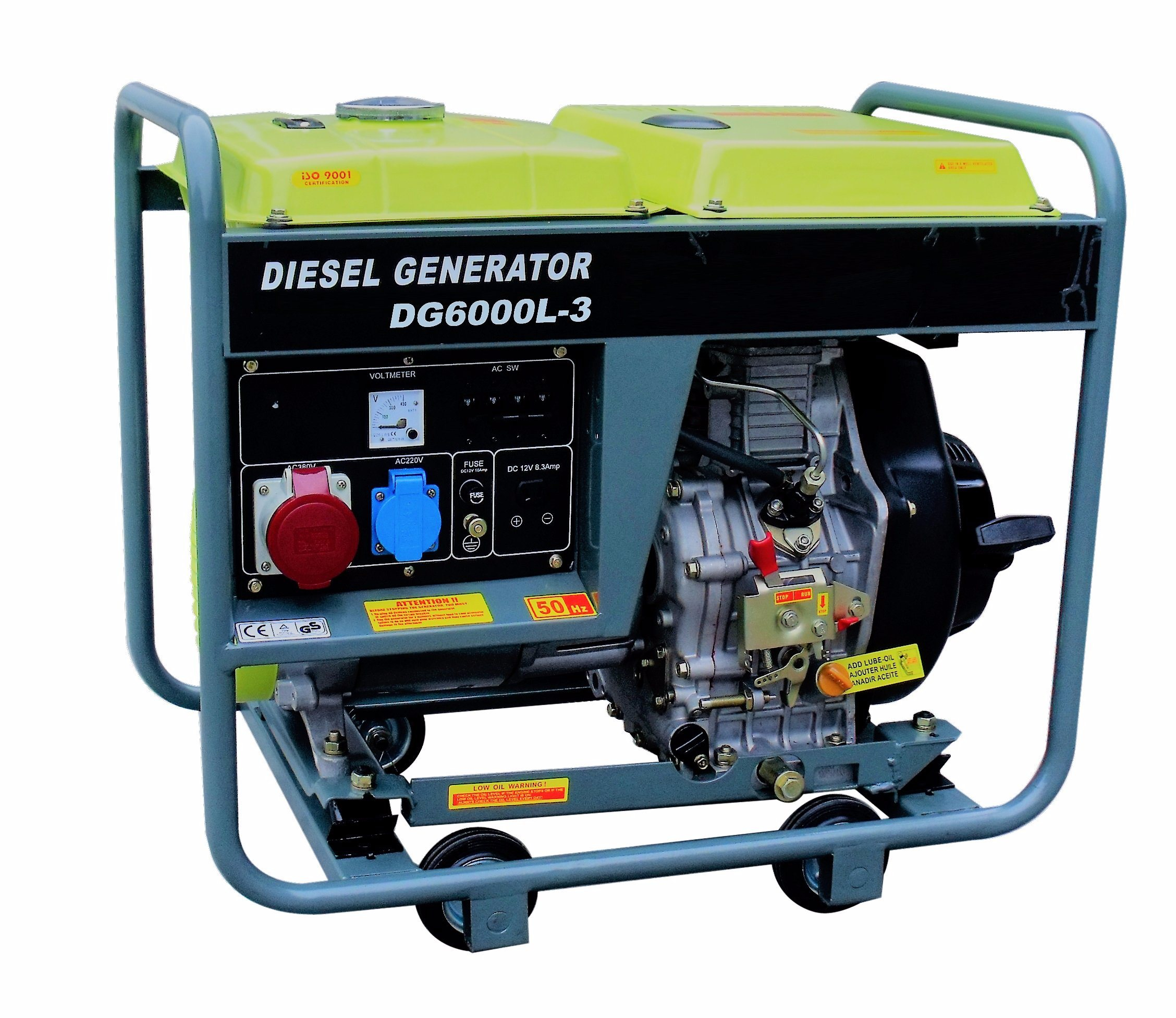 China 50Hz 3phase 5 5kVA Electric Air Cooled Diesel Generator