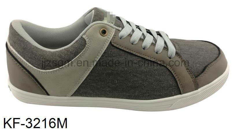 Casual Fashion Leisure Lace-on Men′s Canvas Shoes