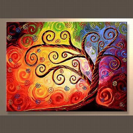 Árboles abstractos pinturas - Imagui