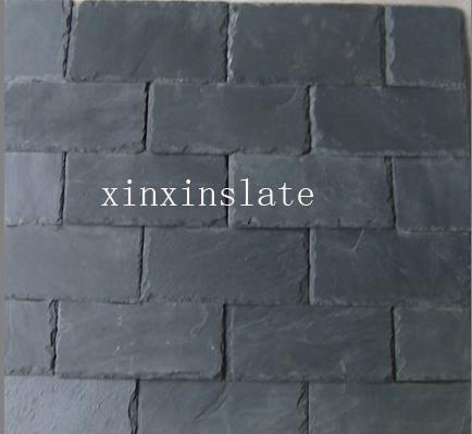 China Square Black Slate Tiles China Square Black Slate