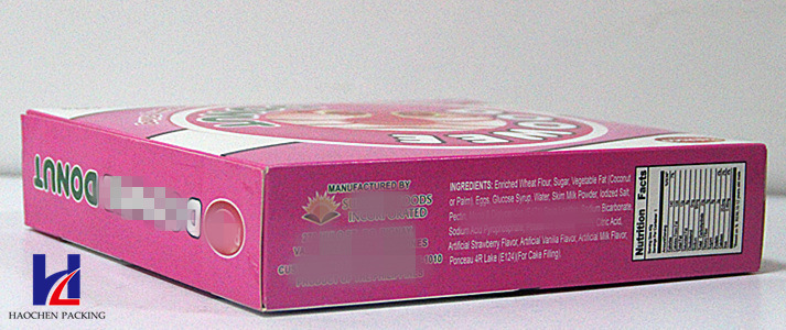 Color Printing Snack Paper Packaging Box