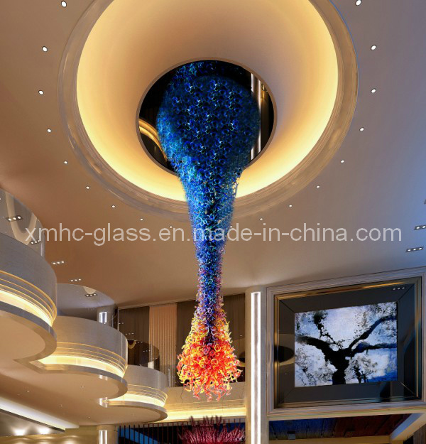 Christmas Tree Glass Lamp and Chandelier for Hotel Decoration