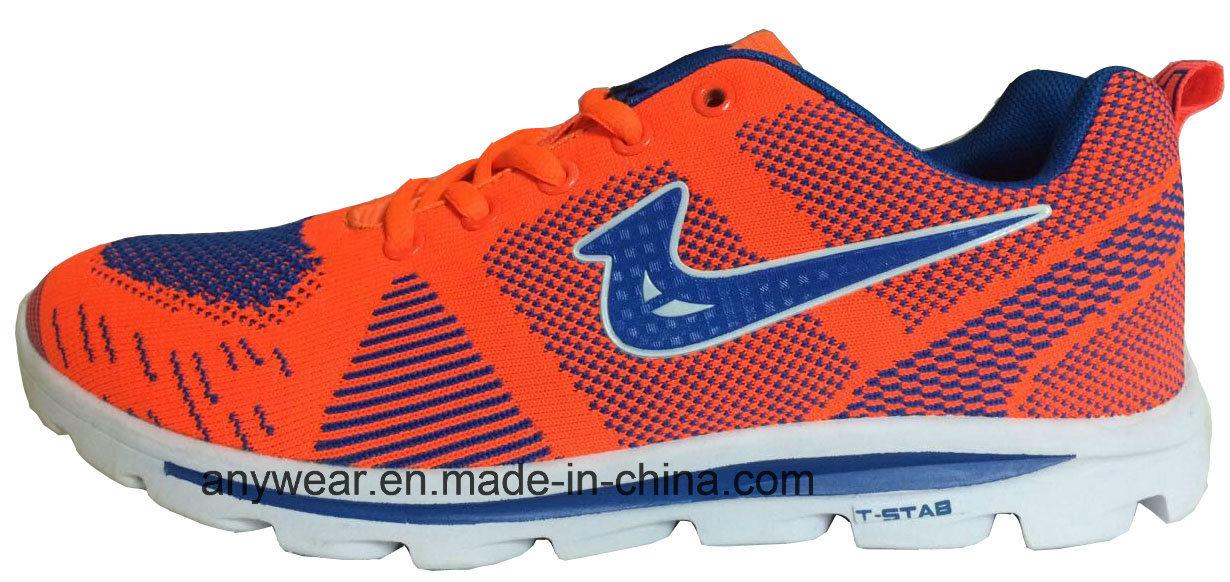 Athletic Men Footwear Flyknit Gym Sports Shoes (815-5687)