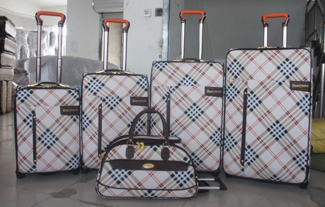 PU Leather Aluminium Trolley System Luggage Bag006