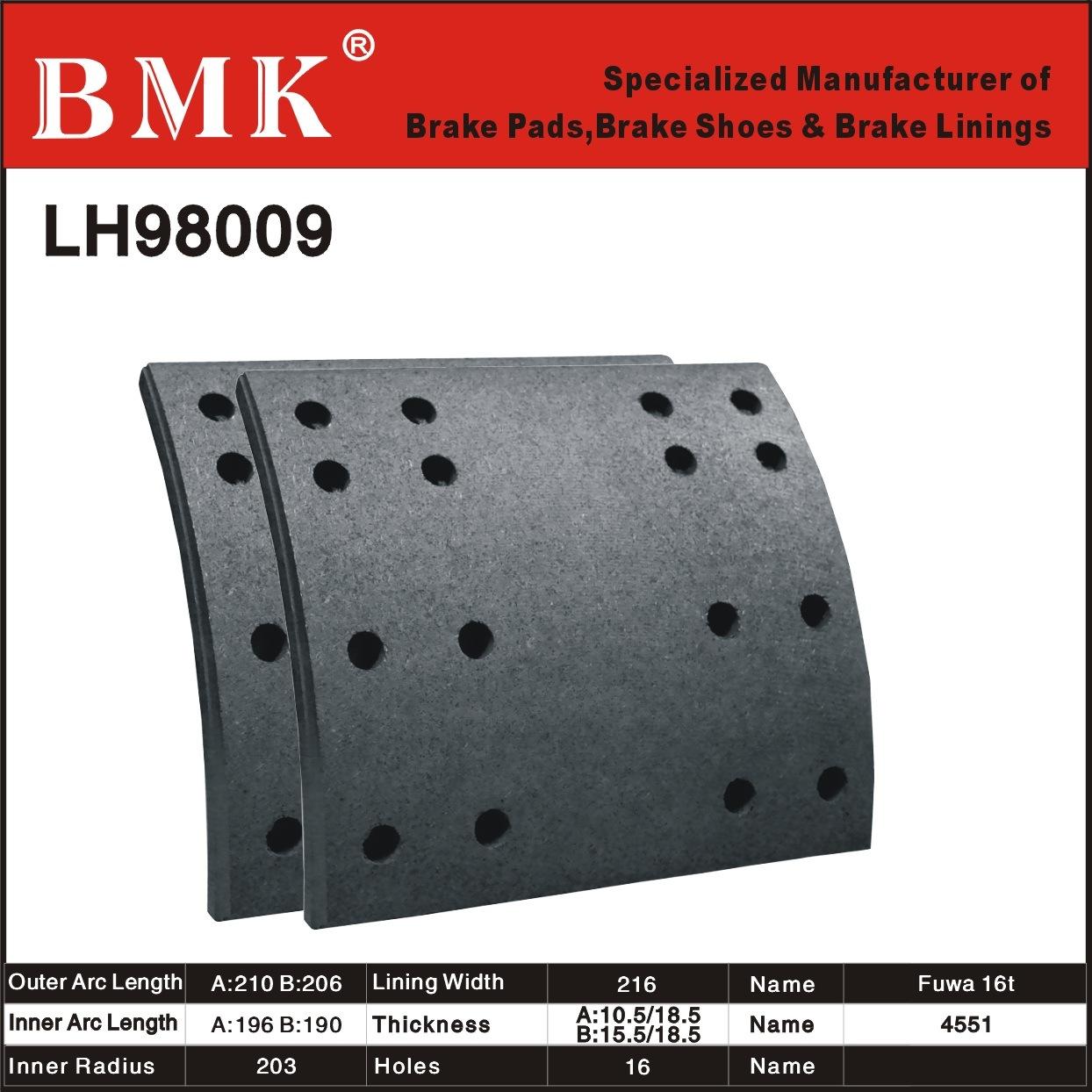 Premium Quality Brake Linings (LH98009)