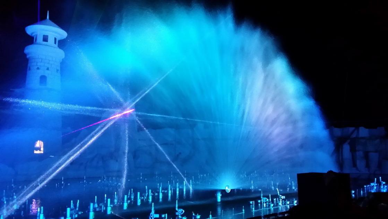 Digital Control Music Laser Water Fountain in Vietnam Phu Quoc Island