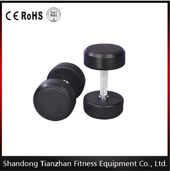 Gym Accessories Fixed Rubber Dumbbell Tz-8002