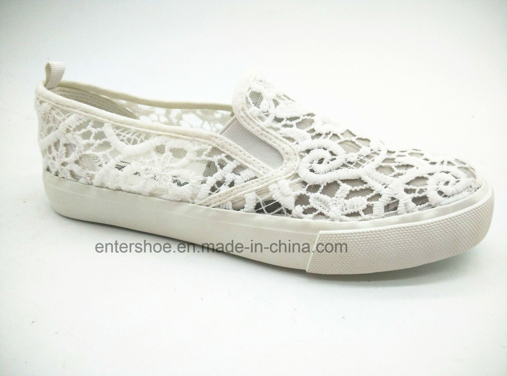Hot Sale Vulcanized Summer Women Shoes with Rubber Sole