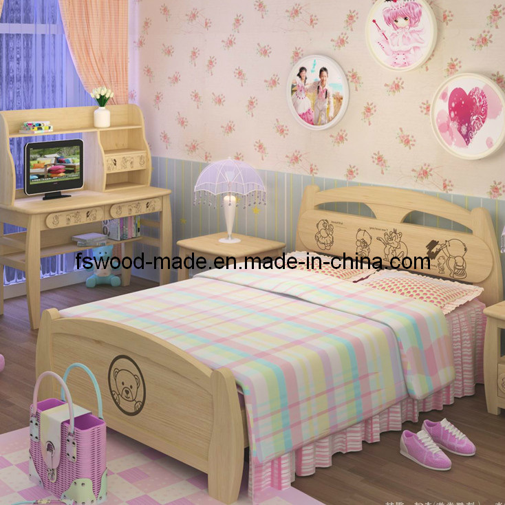 China cute kids wooden bedroom sets 07023 china wooden for Cute bedroom furniture sets