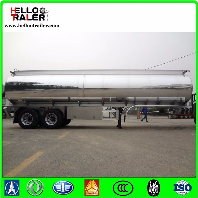 Double Axle 42000L Aluminum Alloy Fuel Tanker Semi Trailer