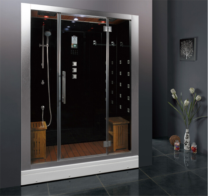 2016 New Style Luxury Steam Shower Enclosure with Tempered Glass and Computer Control Panel Asts1072