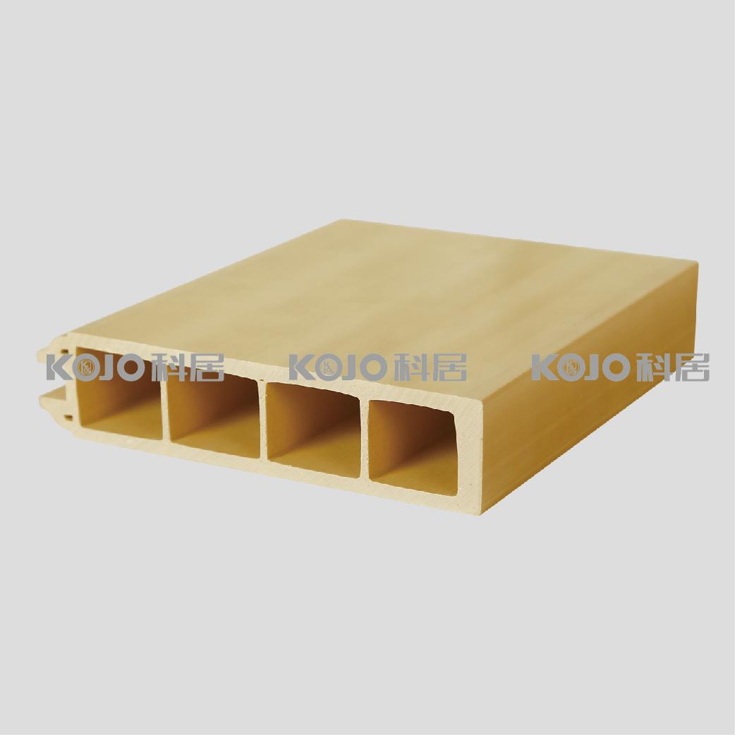 Eco-Friendly Wood Plastic Composite WPC Security Door with SGS Certificates (KM-05)