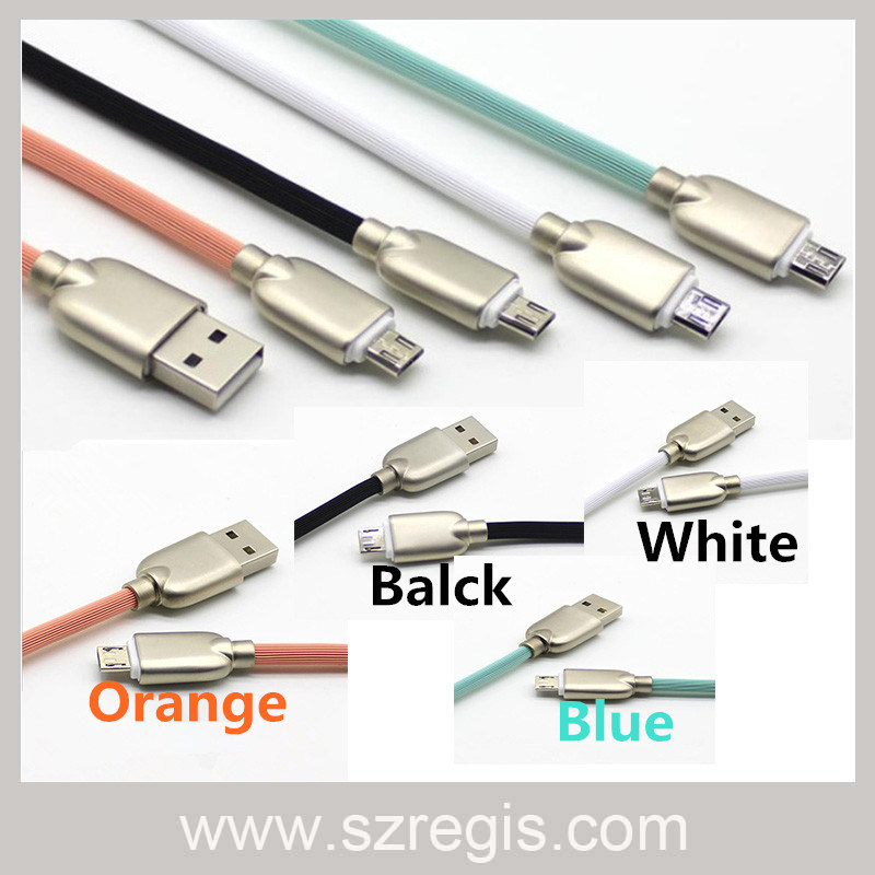 Four Colors Zinc Alloy Micro USB 2.0 Charger Data Cable