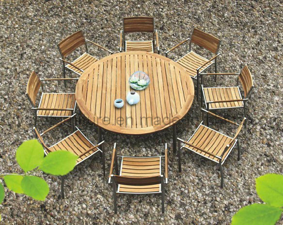 Garden Dining Set -Outdoor Patio Wooden Furniture