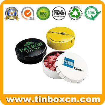 Square and Rectangular Mint Tin Box, Candy Tin Can, Confectionary Tin with Hinge, Metal Tin Case for Food Packaging