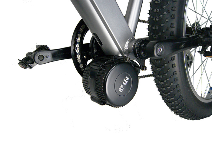 Fat Tire Electric Snow Bicycle with 48V 750W MID Drive Motor
