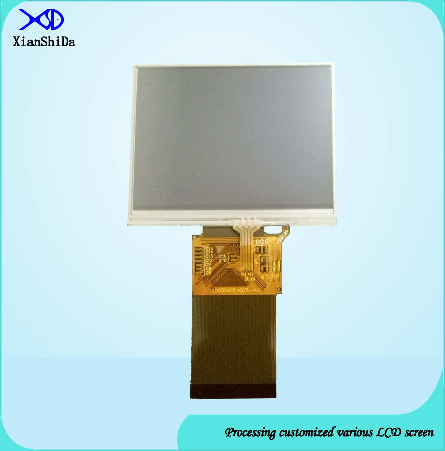 3.5 Inch TFT LCD Touch Screen with 60 Pins