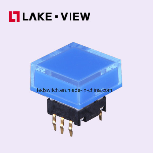 Lead Free 50mA 12VDC 15*15 Square Illuminated Tactile Switch