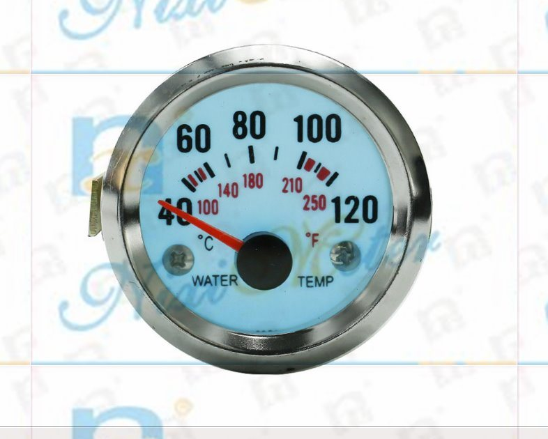 "2"" 52mm 40-120 Water Temperature Gauge with Cold Light"