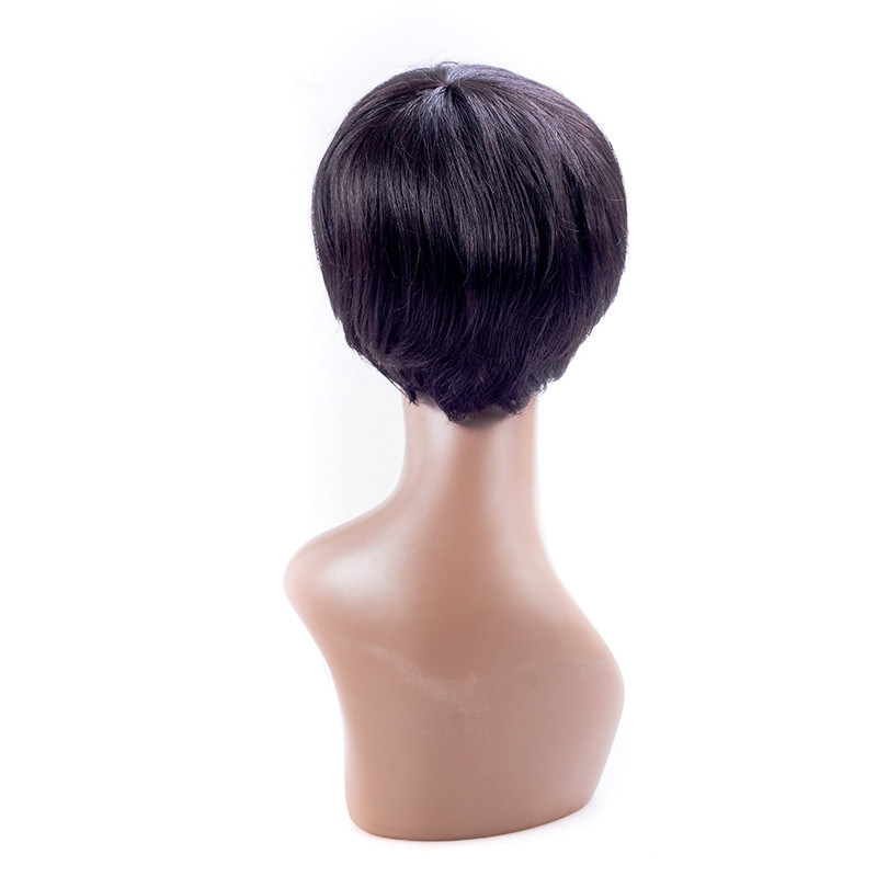 Synthetic Lace Front Wig Short Straight Wigs Natural Black Synthetic Wigs for Black Women