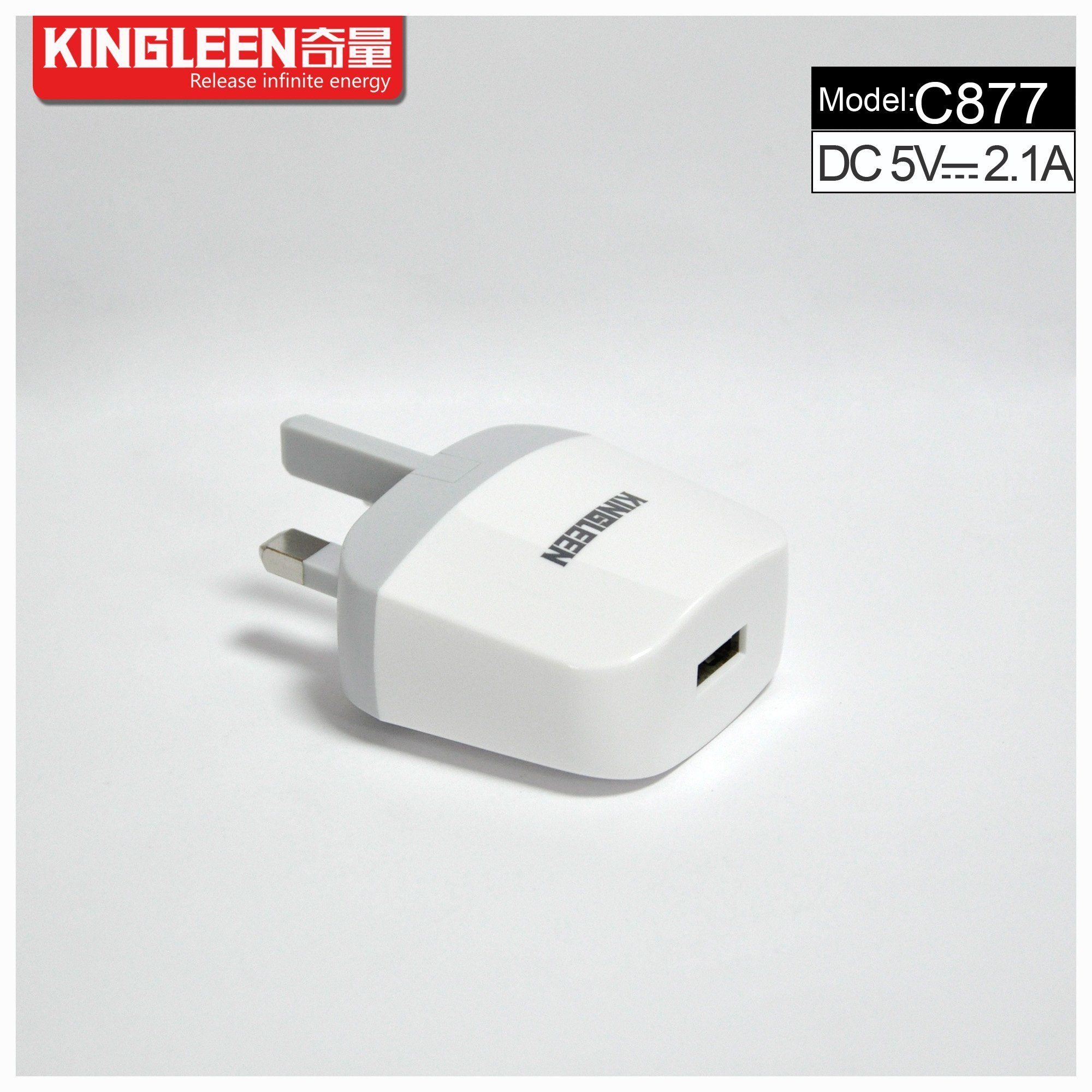 C877 Single USB Battery Charger 5V2.1A Original Factory Production