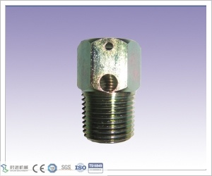 CNC Machining Carbon Steel 1/2 NPT Body Vent Fitting for Valve Part