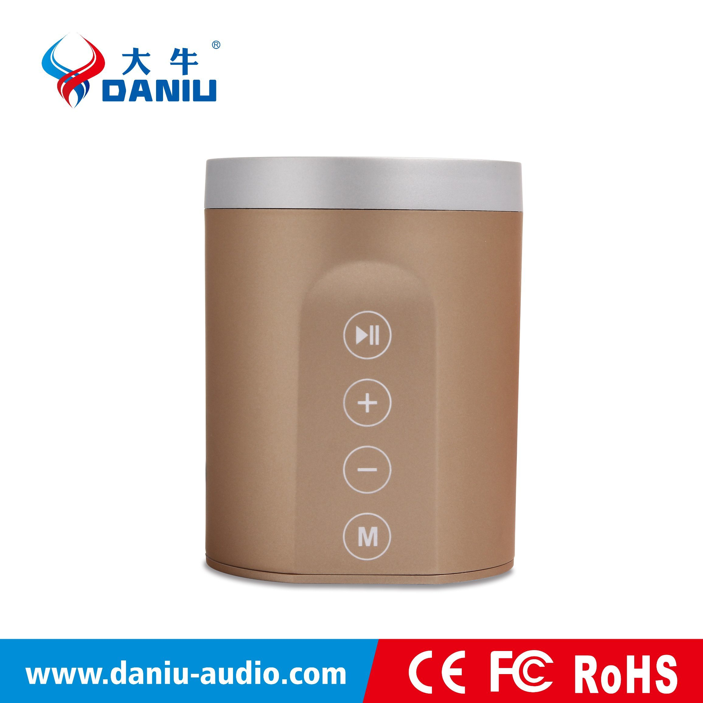 2016 New Hot Selling Mini Size Bluetooth Speaker Support Touch Control FM+TF+U-Disk+Aux