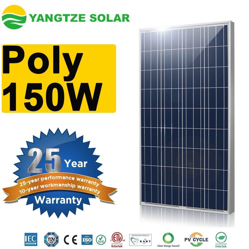 150W Photovoltaic Solar Power PV Panel