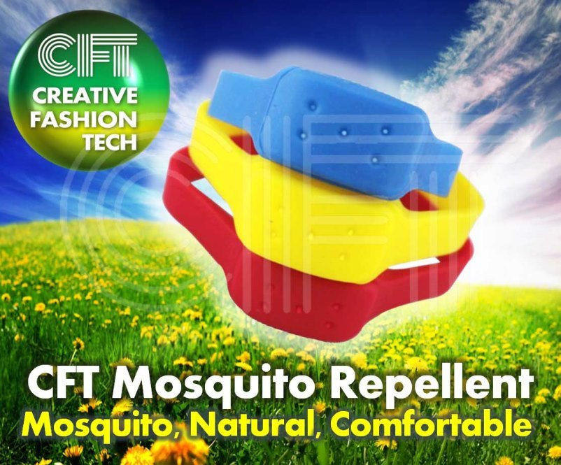 The Cft for 5 Hole (green) Silicon Mosquito Repellent Band