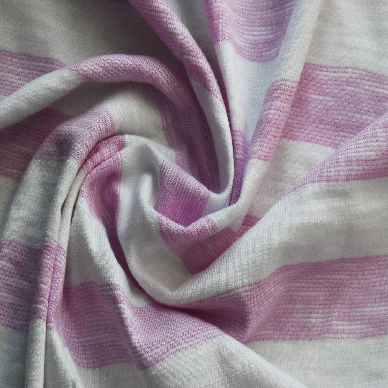Cotton/Rayon/Spandex Yarn Dye Stripe Fabric for Clothing