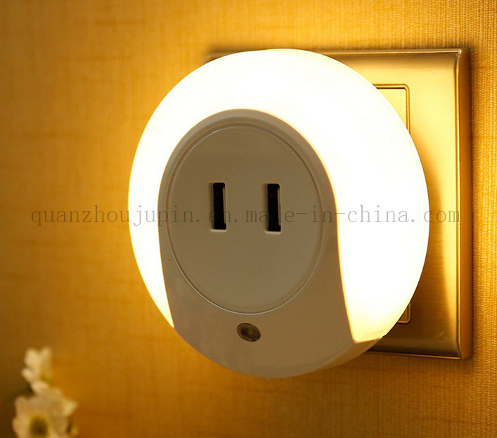Custom Promotional Automatic LED Night Light with USB Socket