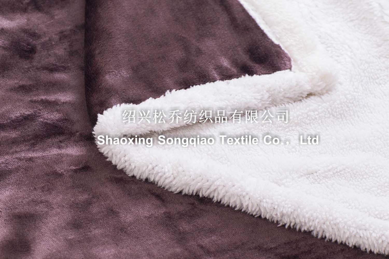 2017 Mink with Shu Velveteen Blanket / Sherpa Fleece Blanket-Dark Brown