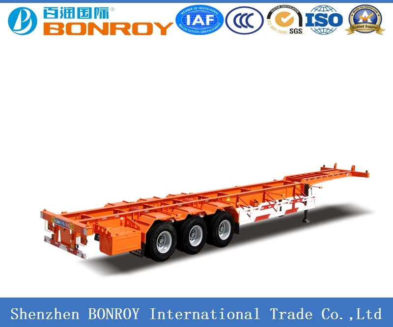Gooseneck 45FT 3axle Skeletal Container Semi-Trailer