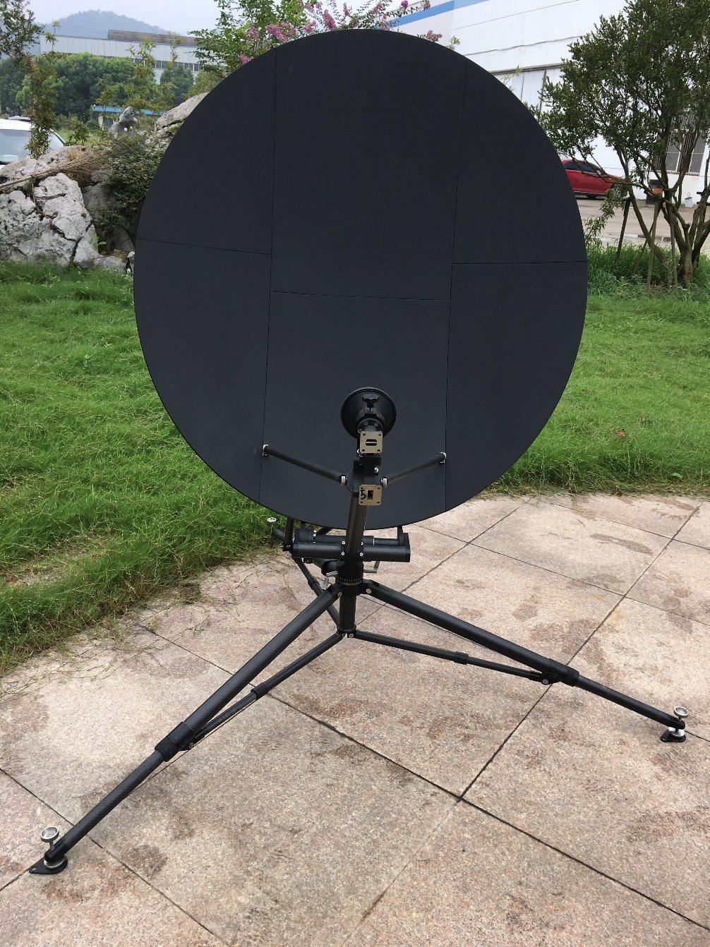 1.2m Full Carbon Fiber Rxtx Flyaway Satellite Dish Antenna
