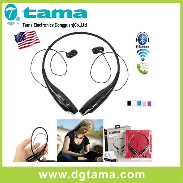 Hbs-730 Wireless Bluetooth Stereo Headset Black Red Neckband for Smartphone
