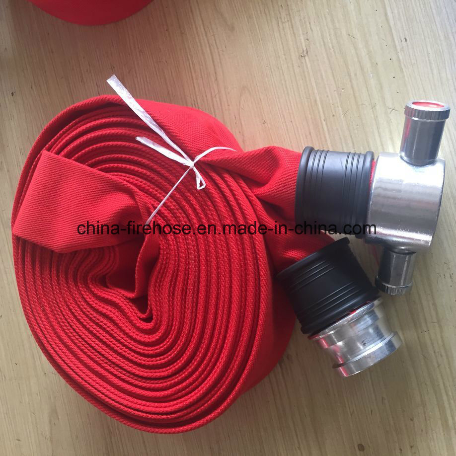Supported OEM ODM Service Red Color PVC material Used Fire Hose for Sale