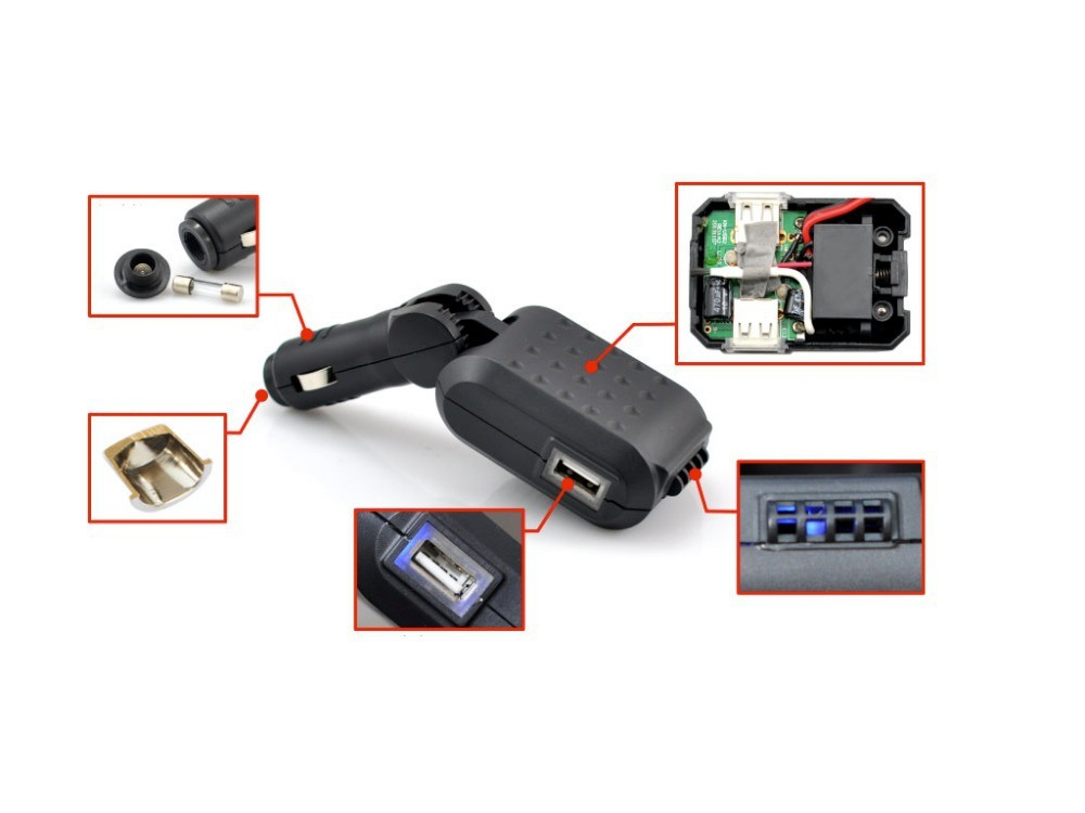 GPS Locator C10 Remote Audio and Camera Monitoring Function, Check The Situation Inside The Car