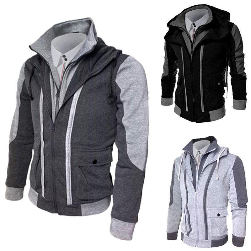 Fashion Men′s Slim Fit Zipper Jackets (A509)