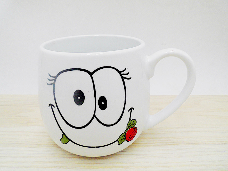 Cute Design White Ceramic Mug