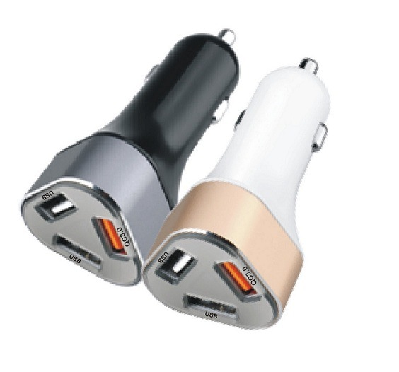 Quick Charge 3.0 Smart Port Car Charger 40W Triple USB Car Charger
